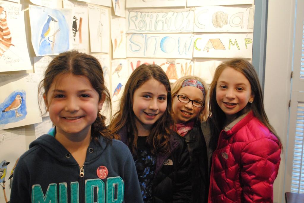 Towne Meadow students Cate Jaccobson, Olivia Goldblatt, Jenna Himelstein and Sophie Sinder all had artwork on display.