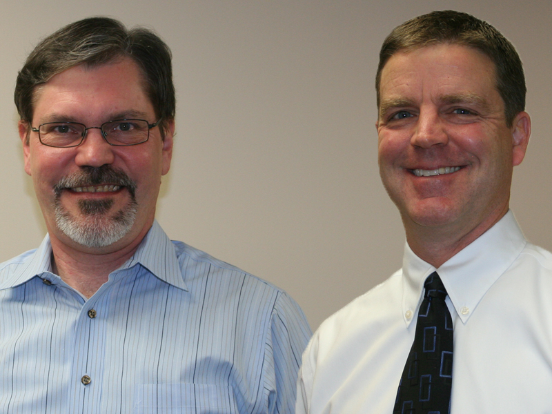 Ed Mitro, Town Manager, and Tim Haak, Town Council President