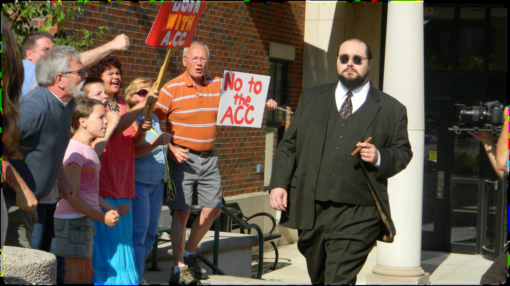 A protest scene was shot outside Noblesville City Hall in 105-degree heat and featured local business owners and residents of Fishers, Noblesville and Carmel as extras.