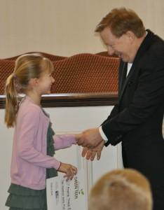 Audrey Kaul and Mayor Jim Brainard