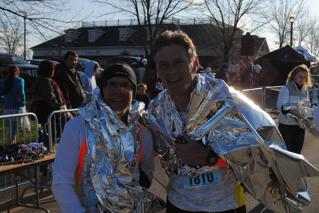 """Robert Klawans of Buffalo Grove, Ill., and Kelly McGovern of Bartlet, Ill., participated in the half-marathon. """"We did a little slower than we would have liked, but the course was tough!"""" said Klawans."""