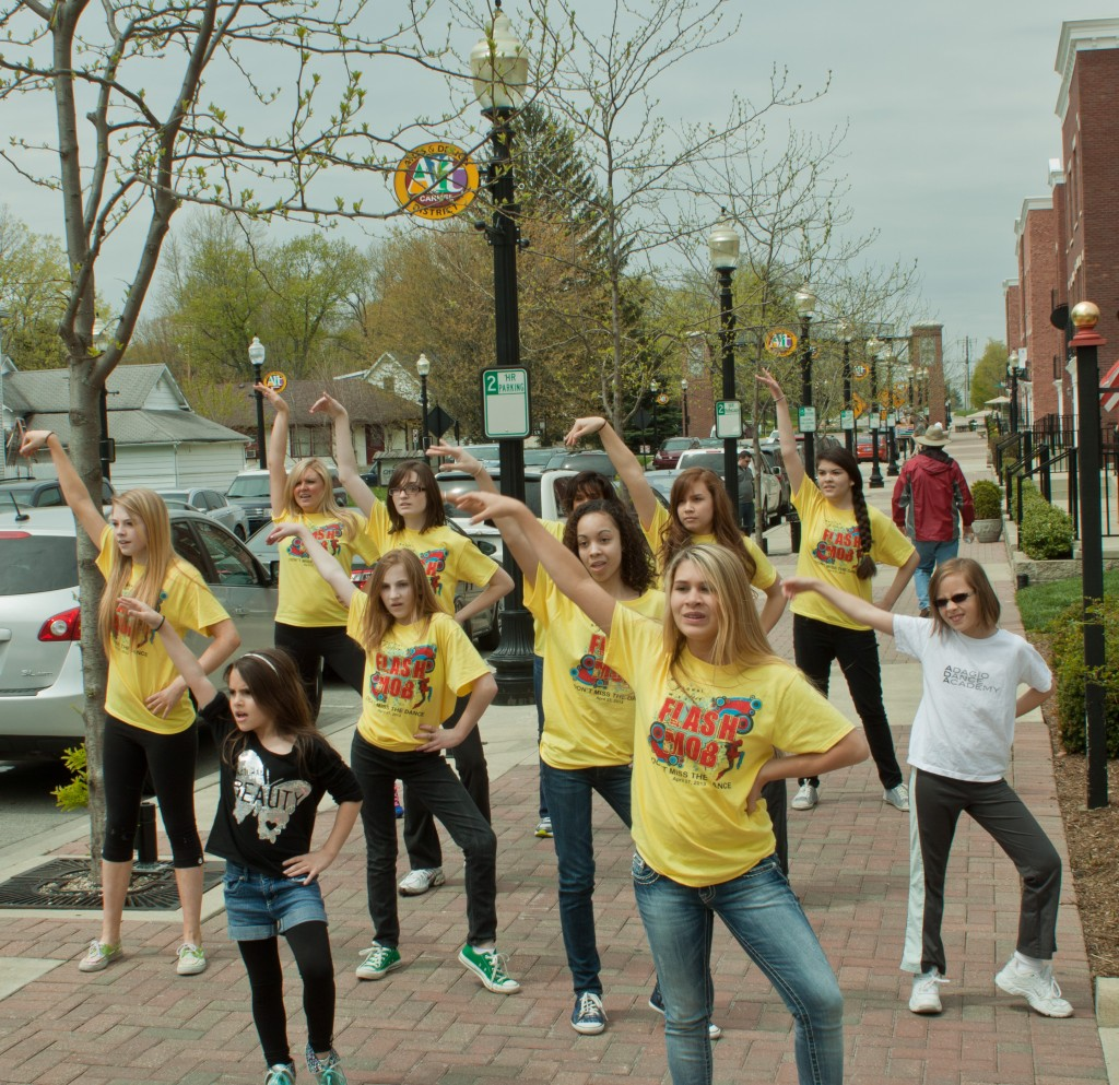 """Flash Mob members dance to """"Can't Stop Me Now"""" by AfroJack"""