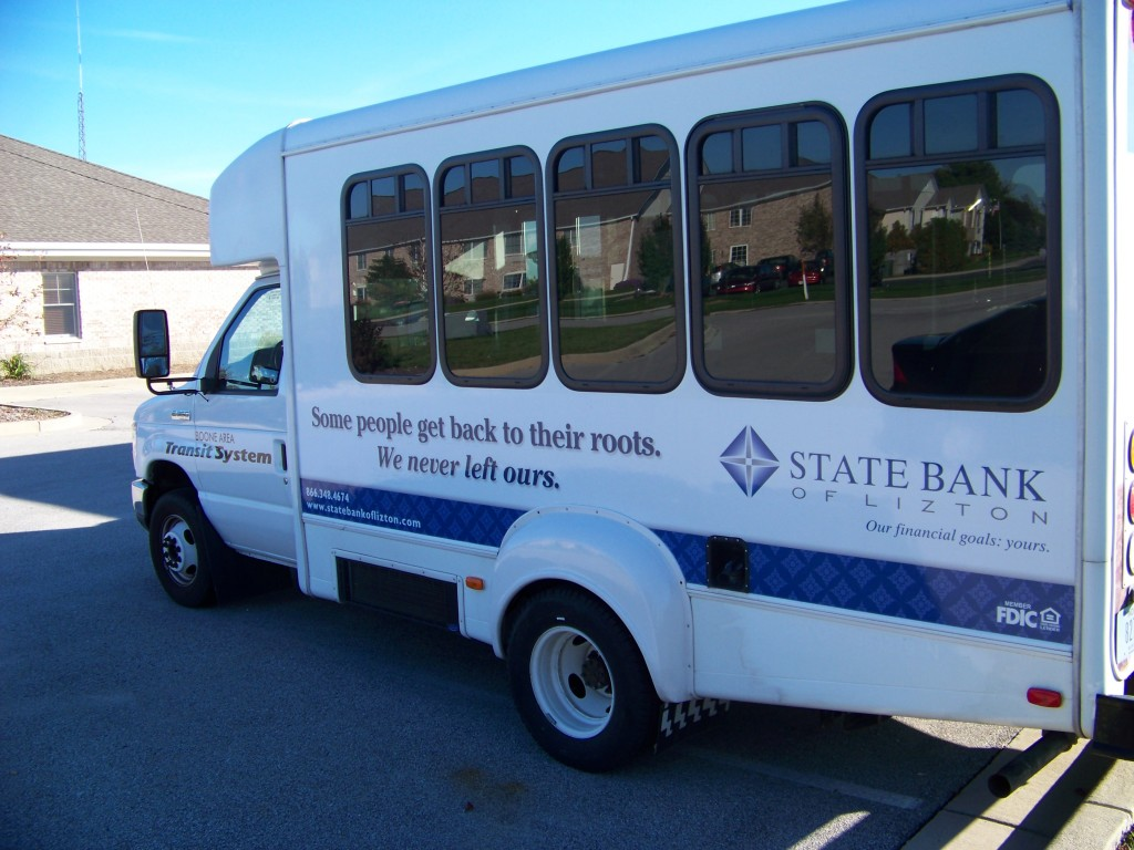 Whether you need transportation to a medical appointment or an interview, the Boone County Senior, Inc's transit services has a fleet of 18 vehicles, like this one, to get you there.
