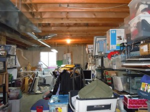 Before, the family's basement area was used to store toys and other items a young family needs. (Submitted photo)