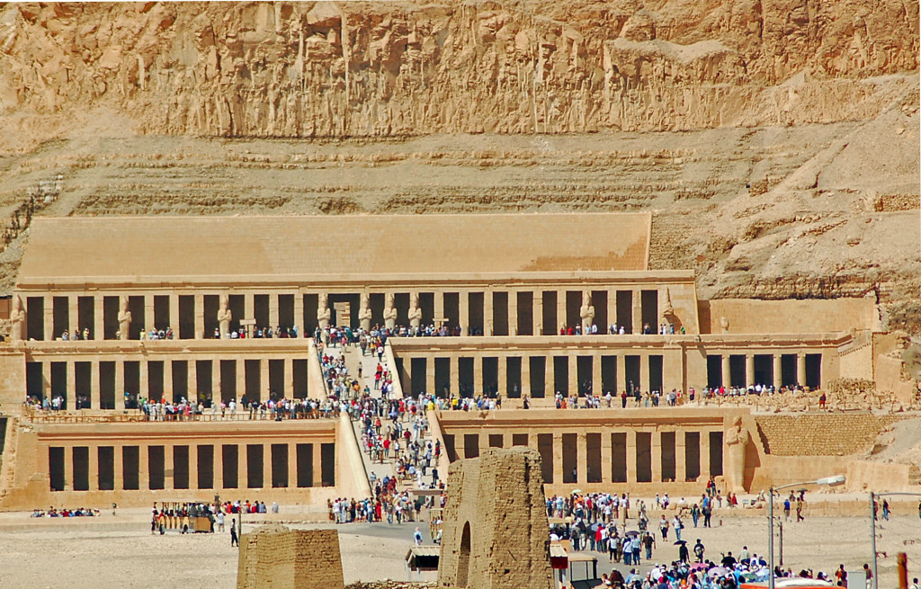 Hatshepsut's mortuary temple at Deir el-Bahri. (Photo by Don Knebel)