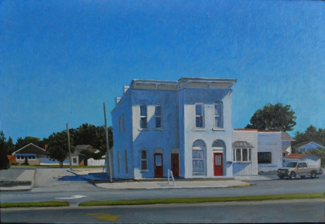 """Eric Forstmann's painting """"Life in a Blue Place"""" is an example of the work he will showcase in Carmel."""