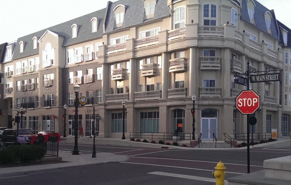 The Pint Room plans to occupy a prominent corner of downtown Carmel - at the southeast corner of the Sophia Square apartment building. (Staff photo)