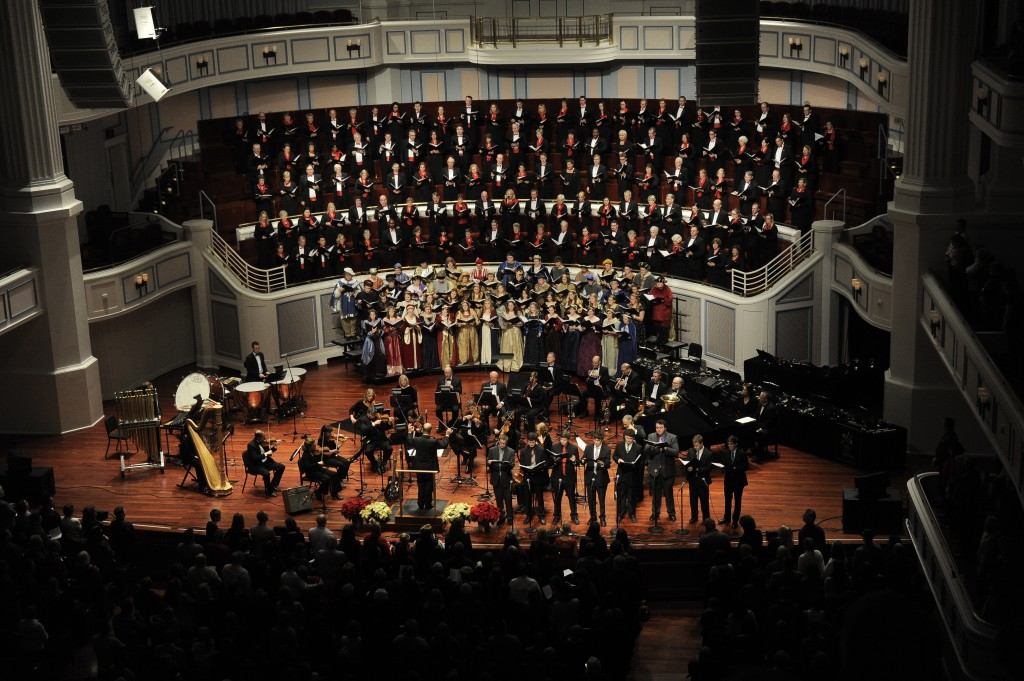 """Fishers High School choir will join the Indianapolis Symphonic Choir with the Indianapolis Chamber Orchestra, Circle City Ringers hand bell choir, soprano Maria Jette (as heard on NPR's """"Prairie Home Companion"""") and the Butler University Men's a capella group, Out of the Dog House. Fishers resident Brian Flora is a member of the ISC. (Submitted photo.)"""