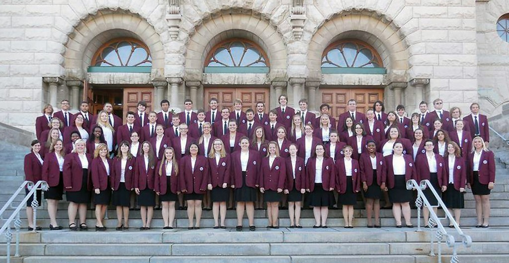 Saint Joseph's College choirs, which include Sarah Bromberek and Thomas Day of Westfield and Jason Lafever of Noblesville, will head to Italy later this month for a musical performance tour. (Submitted photo)