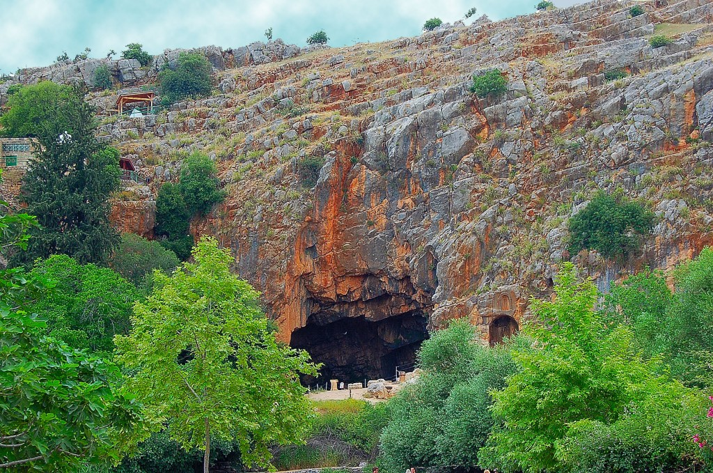 The Gates of Hades in rock at Caesarea Philippi. (Photo by Don Knebel.)