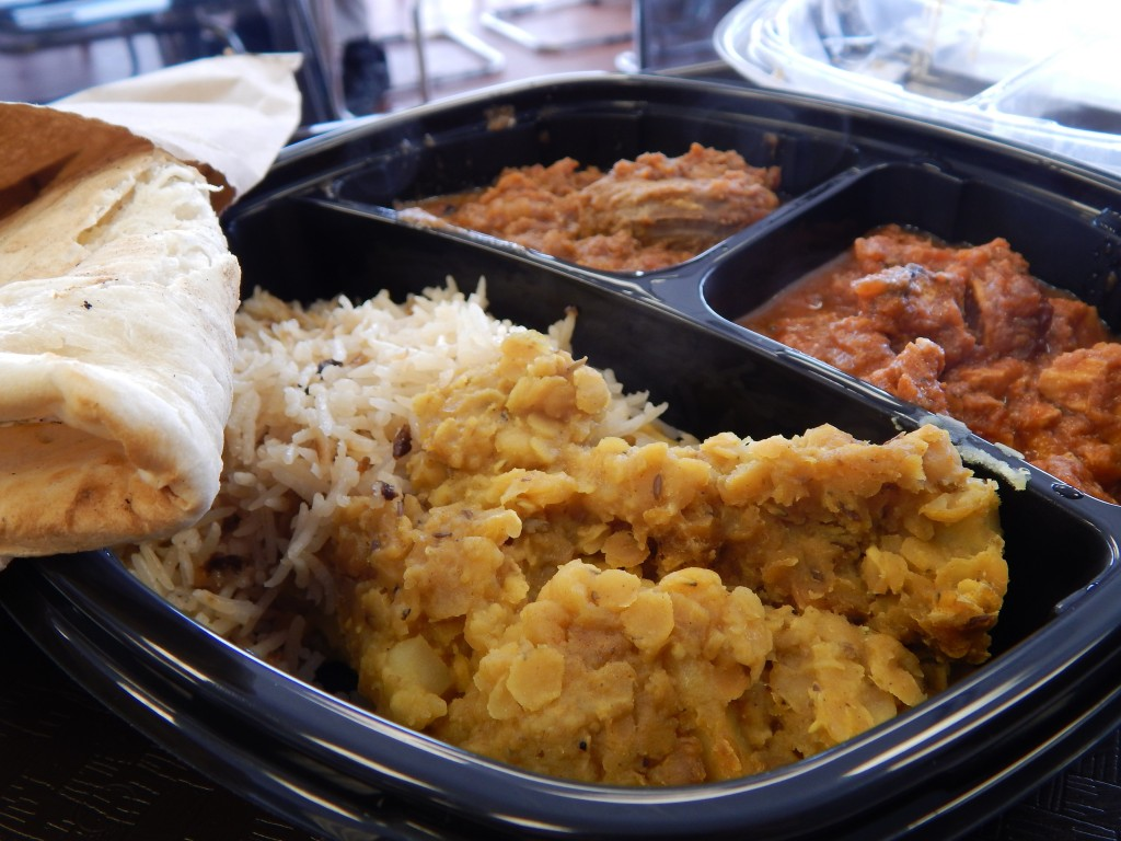 Grille to Go, just south of 106th St. on Michigan Road, specializes in curries, kababs and wraps. (Staff photo)