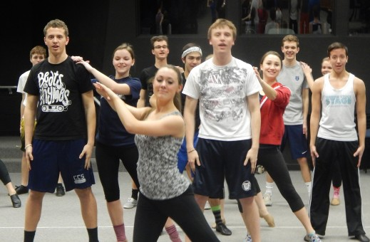 The Carmel High School Ambassadors show choir is rehearsing hard for its upcoming concerts and European trip. (staff photo by Karen Kennedy)