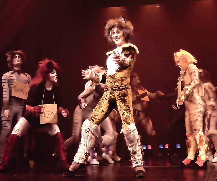 """Kenny Shepard of Fishers reprises his role of the narrating cat, Munkustrap, in Beef & Boards Dinner Theatre's production of """"Cats,"""" on stage Feb. 6 through March 30. (submitted photo)"""
