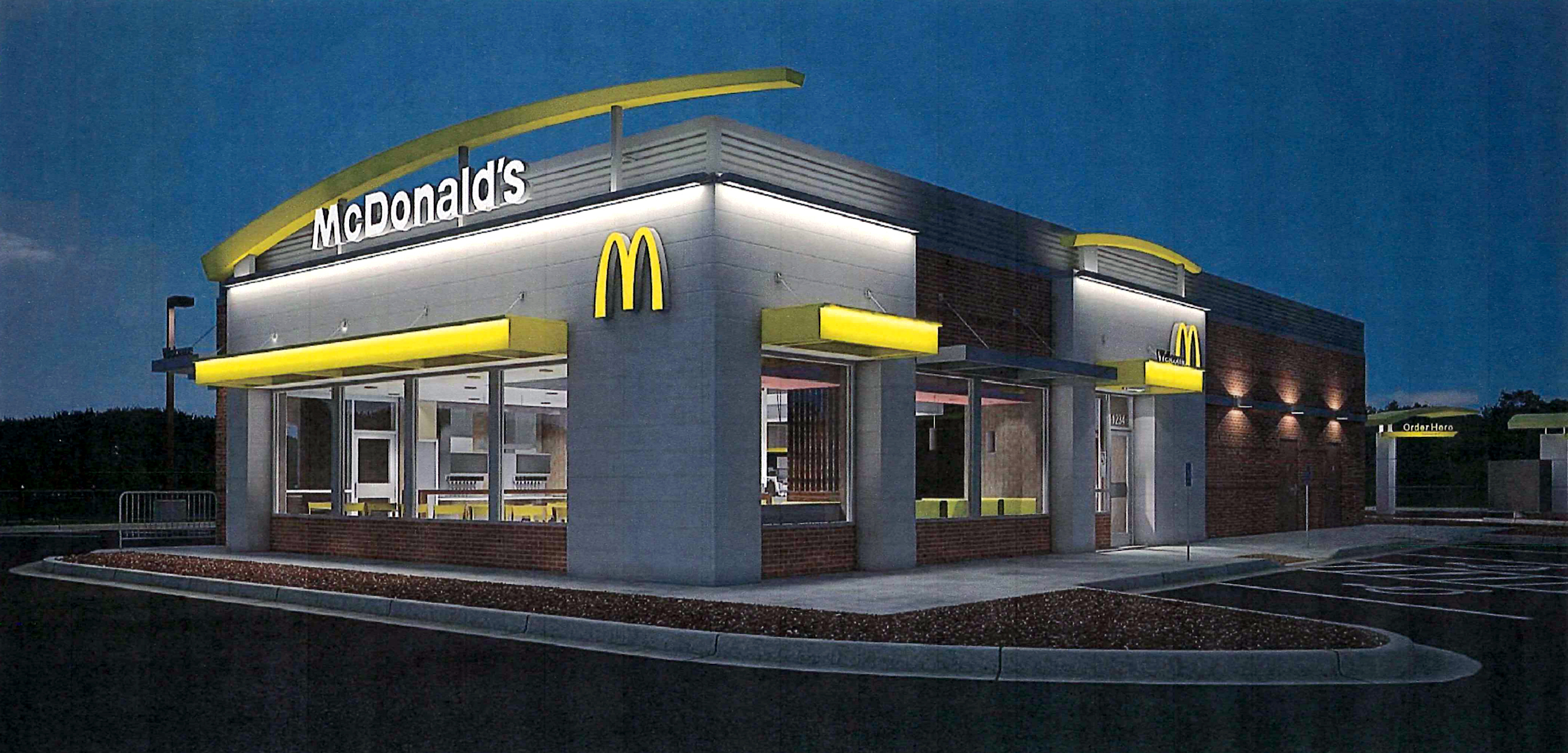 The proposed McDonald's restaurant at 945 Tournament Trail will look similar to most modern designs despite requests from the Westfield Advisory Plan Commission. (submitted rendering)