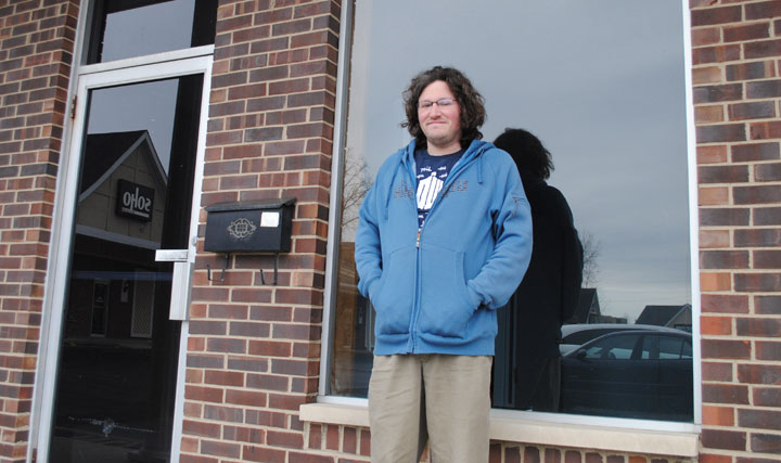 Matthew Hastings said he plans to open Fan Boys comic book store in the Monon Square shopping center during the last week of April. (Staff photo)