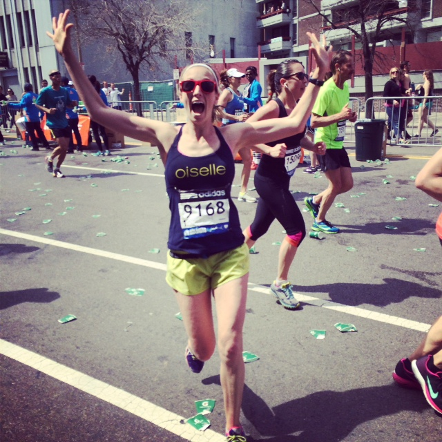 Lindsay Hein completes her second Boston Marathon in 2014. (Submitted photo)