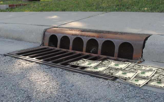 The creation of a new stormwater utility would help to fund improvements to Carmel's stormwater infrastructure. (Staff illustration)