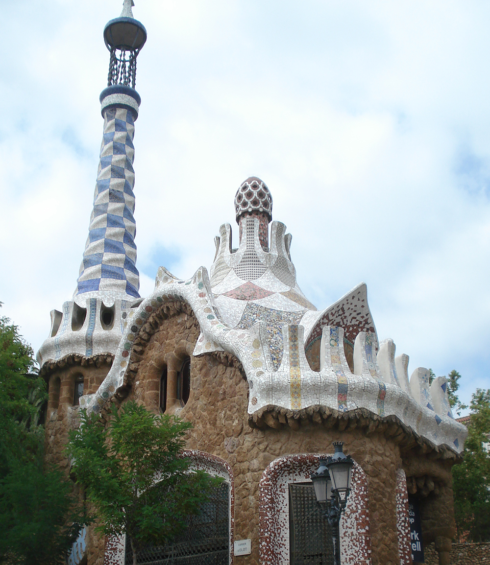 Barcelona's Park Güell is the site of several Gaudi works, including this house, undulating benches and a Barcelona must-see, the mosaic salamander. (Photo by Lana Bandy)