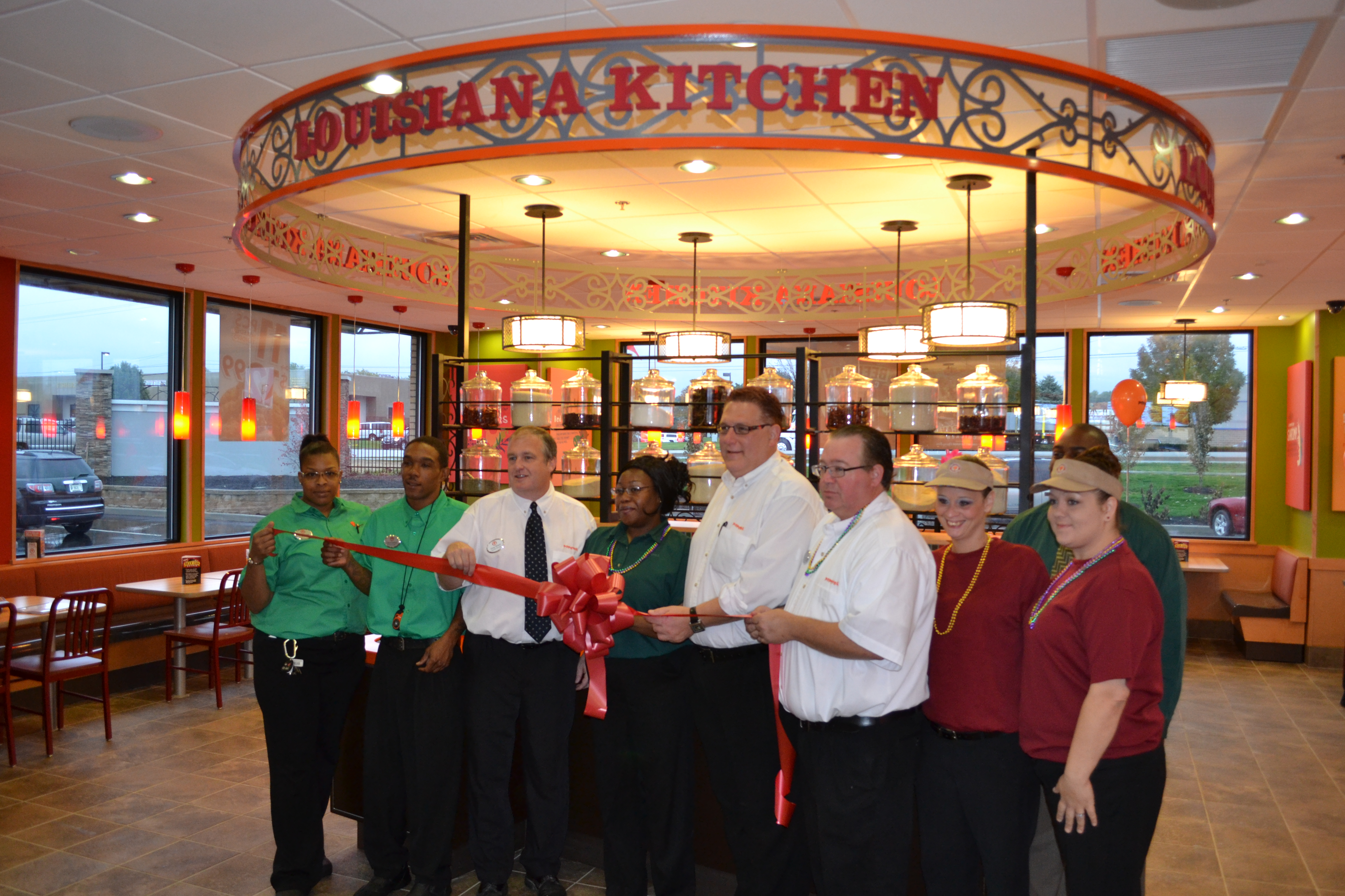 Popeye's restaurant in Fishers Marketplace held its ribbon cutting on Oct. 13. (Photo by John Cinnamon)