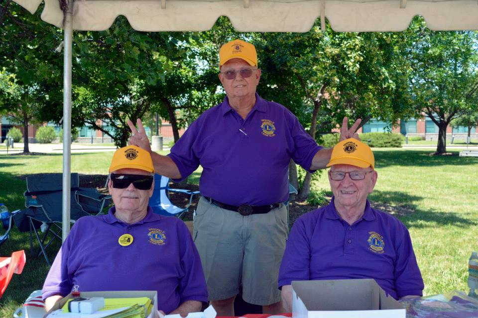 Bob Benson, Ted Engelbrecht and John Hiatt in the registration tent at the Westfield Rocks the 4th Headliners Car Show. (Submitted photo)