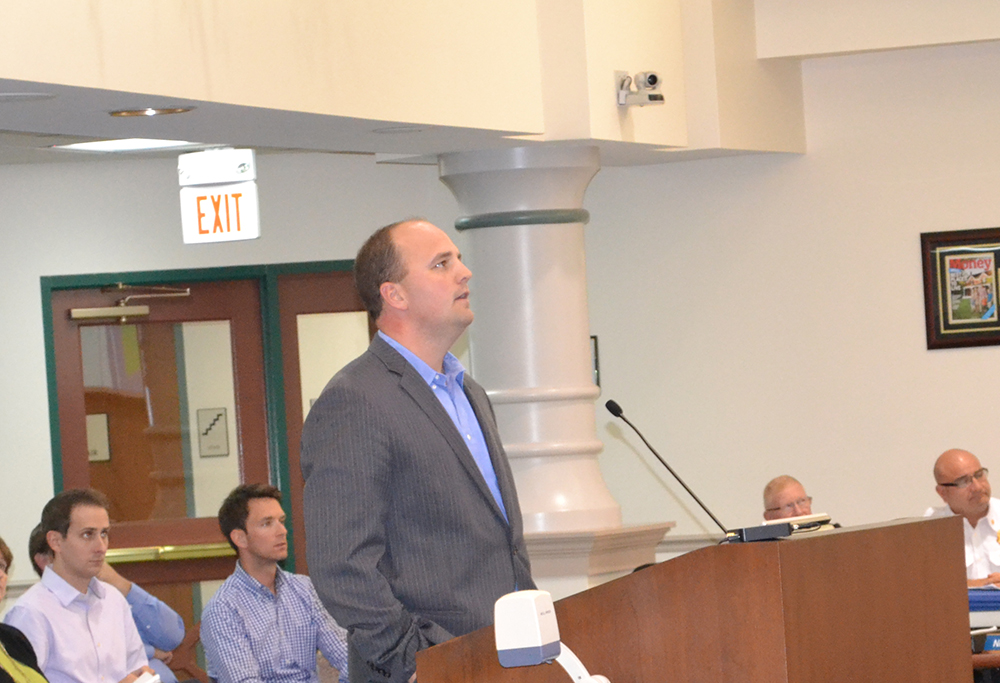 Town Manager and Mayor-elect Scott Fadness presented the 2015 budget to the Town Council on Oct. 6. (Photo by Ann Craig-Cinnamon)