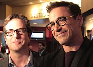 """A- List actor Robert Downey Jr. known for """"Iron Man"""" and """"Sherlock Holmes"""" waltzed in the theater and shocked the paying audience on Oct. 4. Current's film guru Amy Pauszek was there to meet him. (Photo by Danny Yount, of Carmel)"""