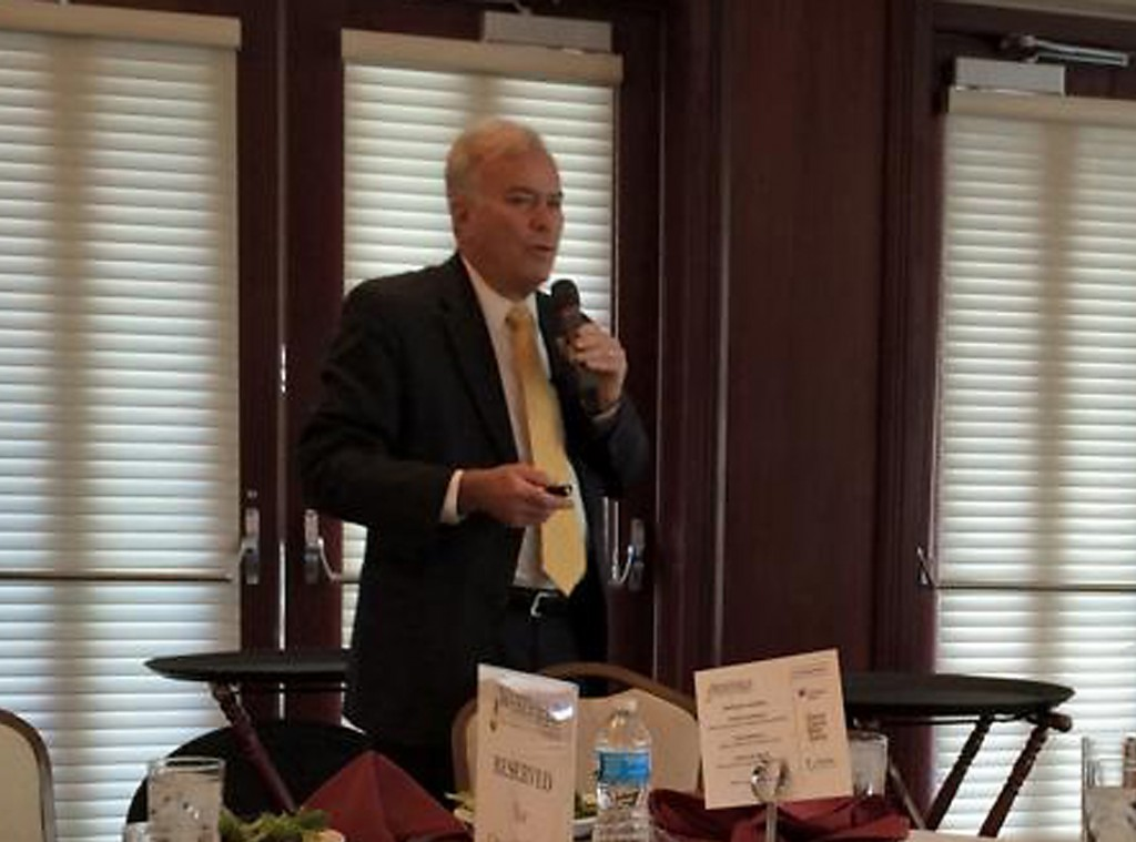 Mayor Andy Cook gives his annual State of the City address to the Westfield Chamber of Commerce on Nov. 20 at The Bridgewater Club. (Submitted photo)
