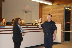 Andrew Phelps is sworn in. (Photo by James Feichtner)