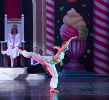 """A dancer performs the song """"Arabian Coffee"""" from a performance of """"The Nutcracker"""" by CIDE in 2005. (Submitted photo)"""