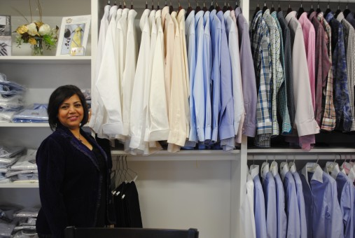 Kay Zaidi of Carmel Tailoring.
