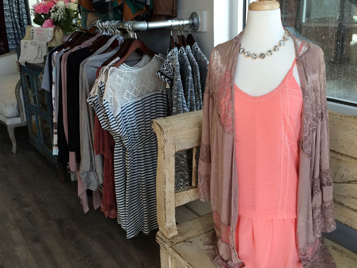 Trendy clothing options at Dottie Couture. (Photo by Holly Kline)