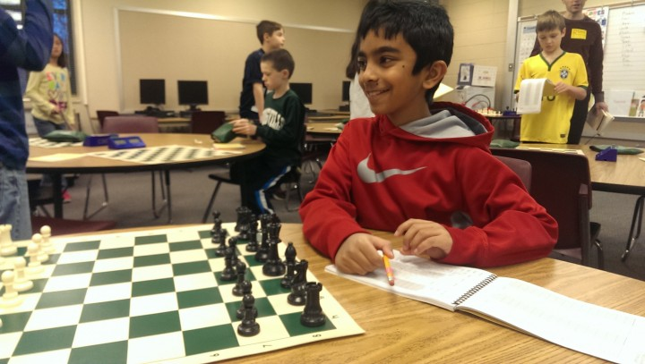 Third grader Naitik Rambhia finished fifth in the state in his division. (Submitted photo)