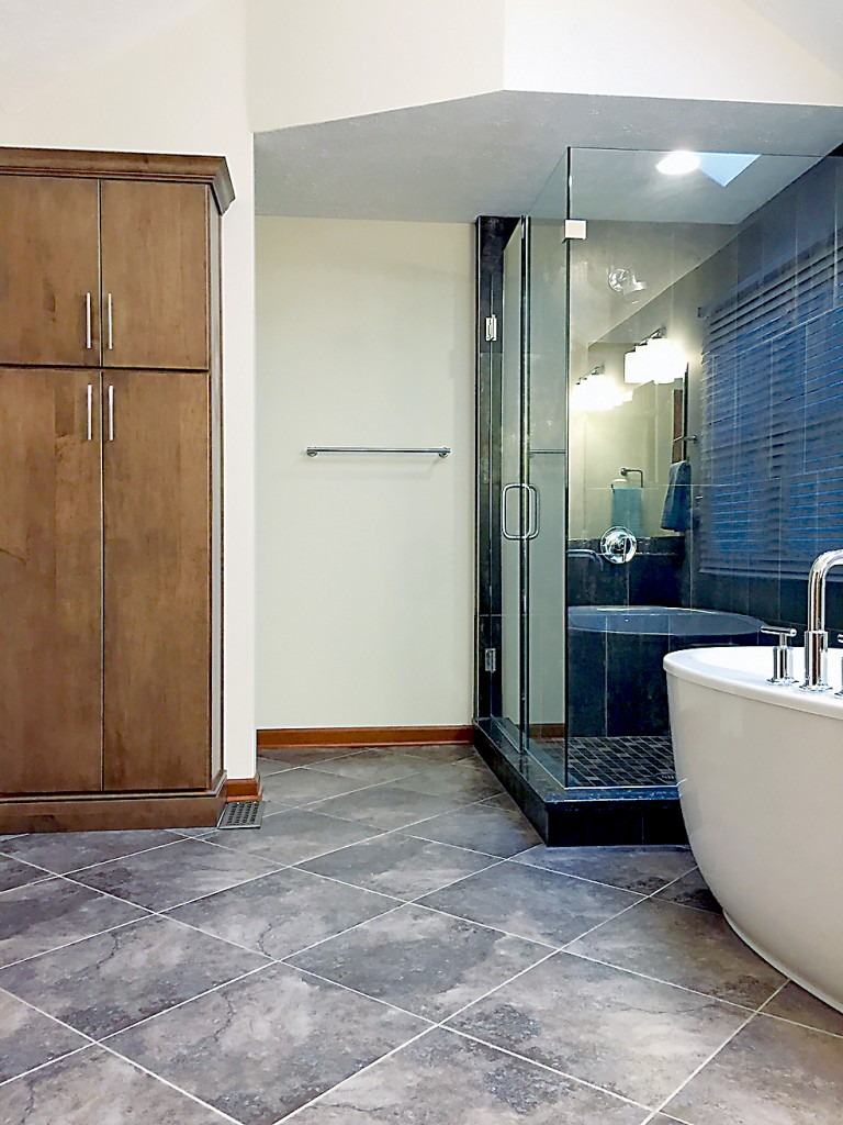 Tile is currently the most popular of all bathroom- flooring selections because it is easy to clean, fairly resistant to harboring germs and durable. (Submitted photo)