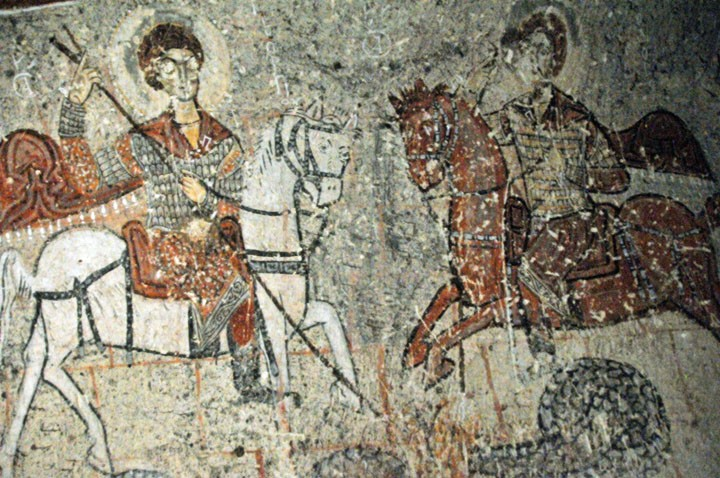 Eleventh century Cappadocian fresco of St. George. (Photo by Don Knebel)