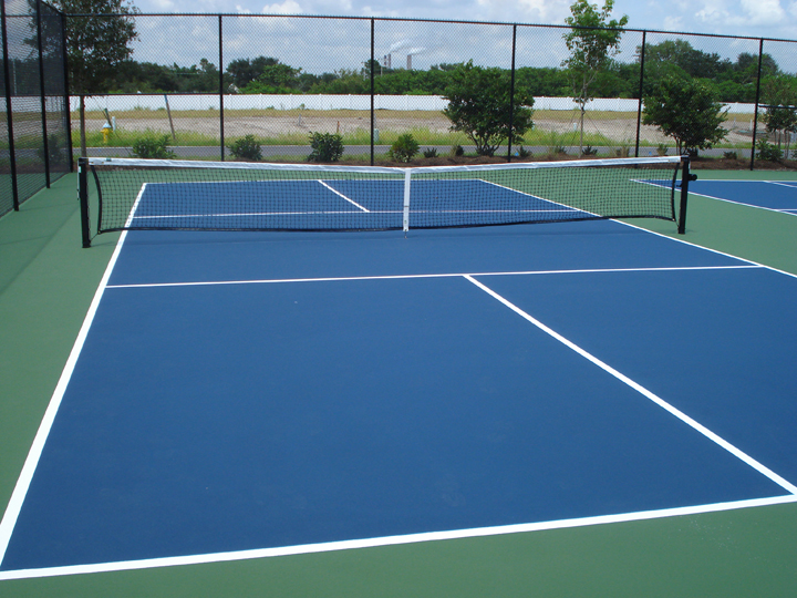 A pickleball court is the same size as a doubles badminton court. Four courts wil be added to Cyntheanne Park. (Submitted photo)