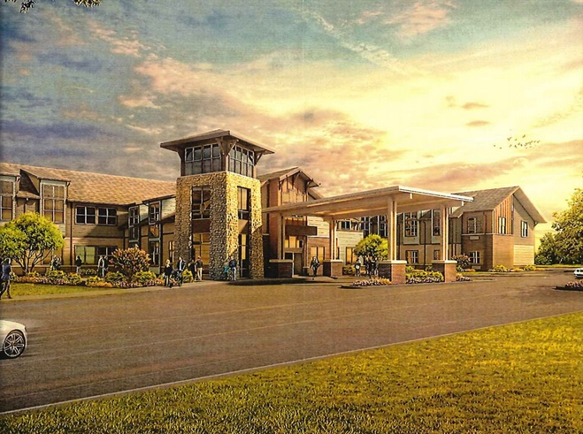 The Zionsville Plan Commission approved plans for a two-story transitional care facility that will contain about 90 beds. (Submitted rendering)