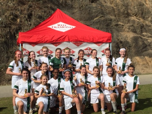 The Zionsville Youth Soccer Association U14 Girls soccer team won the Red Diamond Vulcan Cup Soccer Tournament in Birmingham, Ala., this past weekend. (Submitted photo)