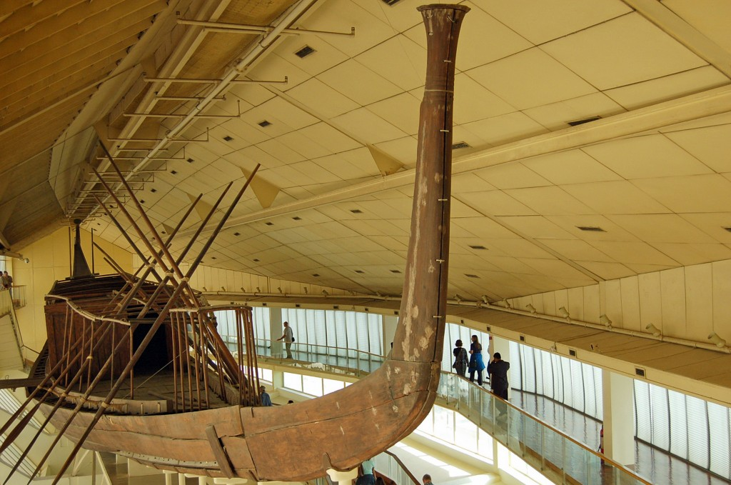 """""""Solar Boat"""" in Cairo's Boat Museum. (Photo by Don Knebel)"""