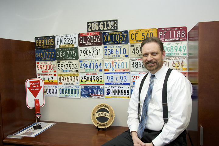 Kent Abernathy of Zionsville became the new commissioner of the Indiana Bureau of Motor Vehicles in February. (Photo by Lisa Price)
