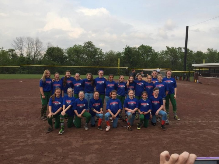 (Back, from left) Emily Caulfield, Maddie Stacy, Elly Grenda, Kendal Roland, Valerie Trent, Sarah Weglarz, Jaci Elson, Victoria Pucci, Peighton Isley, Sara Harmeyer, Audrey Hussain, Lilah Denton, Olivia Roop and Lizzie Batta; (Front, from left) Emily Robinson, Samantha Stegner, Abby Stump, Reghan Oland, Jaylyn Harrison, Caroline Roop, Hannah Pensyl and Kaitlyn Bair (Submitted photo)