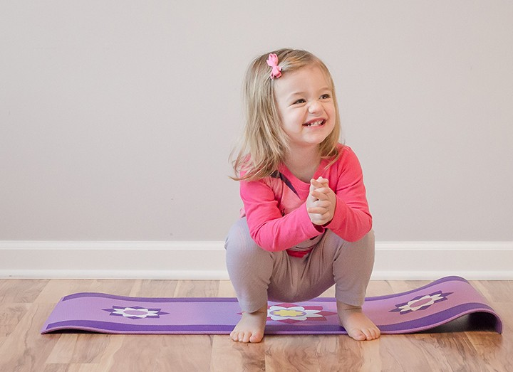 Frog pose teaches children about strength, flexibility and energy. (Submitted photo by Brett Johnson)