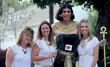 Brad Pillow, center right, also known as Helen Heels, with friends Elizabeth, Lisa and Val as his entourage for the Z'Sparkle's fifth annual Drag Race. (File Photo)