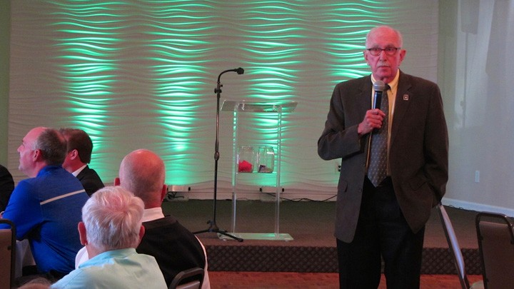 Supt. Dr. Mark Keen spoke on Westfield Washington Schools' goals for the next five years during his Aug. 20 State of the Schools address. (Photo by Navar Watson)