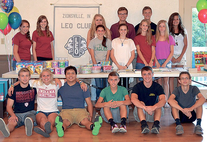 Members of the Leo Club recently met to pack birthday boxes. Pictured are Lauren Stone, Ra- chael Stone, Emma Seward, Alex Perry, Will Hobick, Madeline Myers, Tori Hanshew, Sara Van de Sandt, Sierra Allen, Kaci Fugate, Cam Bohl, Nicole Prior, Erick Herrera, Cale Phillips, Tyler Klein and Jack Johnson. (Submitted photo)