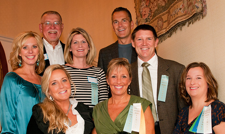 The advisory board of the gala. Front row, from left: Diane Palma, Krista Davis and Kristen Kelley. Second row, from left: Kelli Ball, Jennifer Rhodes and Ron Stohler. Back row, from left: Chuck Gross and Stephen Hadley. (Submitted photo)