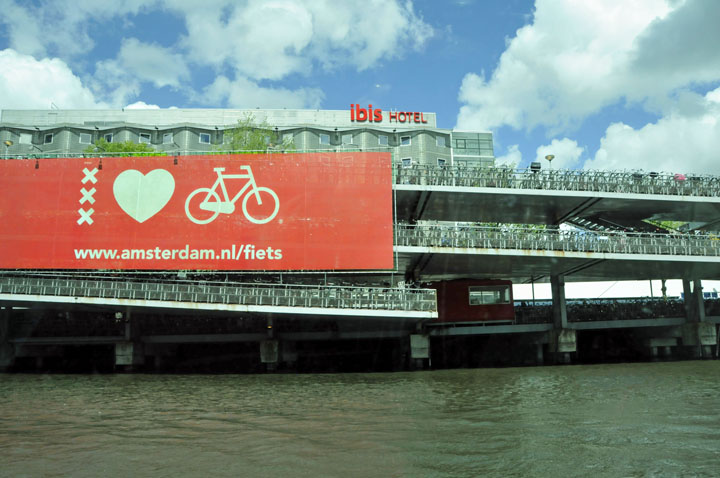 Bicycle parking flat in Amsterdam. (Photo by Don Knebel)