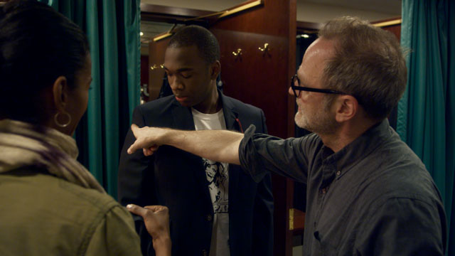 Tom Broecker, a Carmel native, returns this month to premiere a documentary film. Broecker with Jay Pharoah on set. (Photo courtesy of LFNY!)