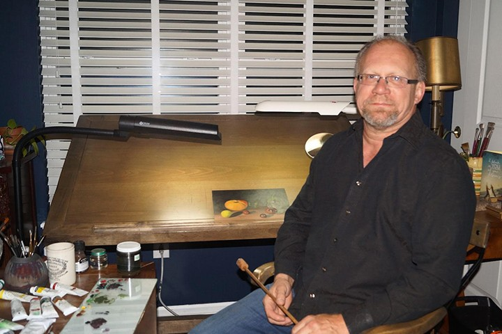 Al Hopkins in his studio. (Submitted photo)