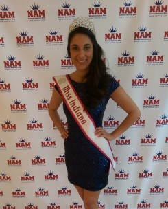 Megan Billman wearing her crown as Miss Indiana in the National American Miss Pageant. (Submitted photo)