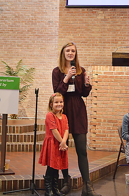 Anna Morrisey, right, brought Emily Greyvenstein to her presentation on hearing loss to help parents show teachers how to better equip themselves to assist students with hearing loss. (Submitted photo)